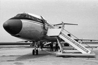 Tupolev 154B CCCP-85238 au Havre (LFOH) le 20 mai 1978. Minolta SRT-101, objectif Rokkor 1:1,7 50mm.