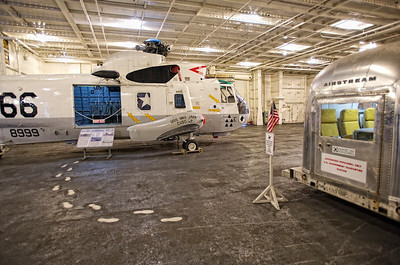 """SH-3H Sea King – used in the 1995 movie """"Apollo 13""""; same type of helicopter that recovered the Apollo 11 and 12 astronauts painted in the same """"66"""" livery as the original."""