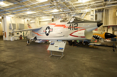 USS Hornet Museum. Chance-Vought F8U-1 Crusader.