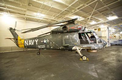 USS Hornet Museum. SH-2 Seasprite anti-submarine helicopter.