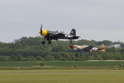 1945 - Goodyear Corsair FG-1D and 1941 - Curtiss Warhawk P40F