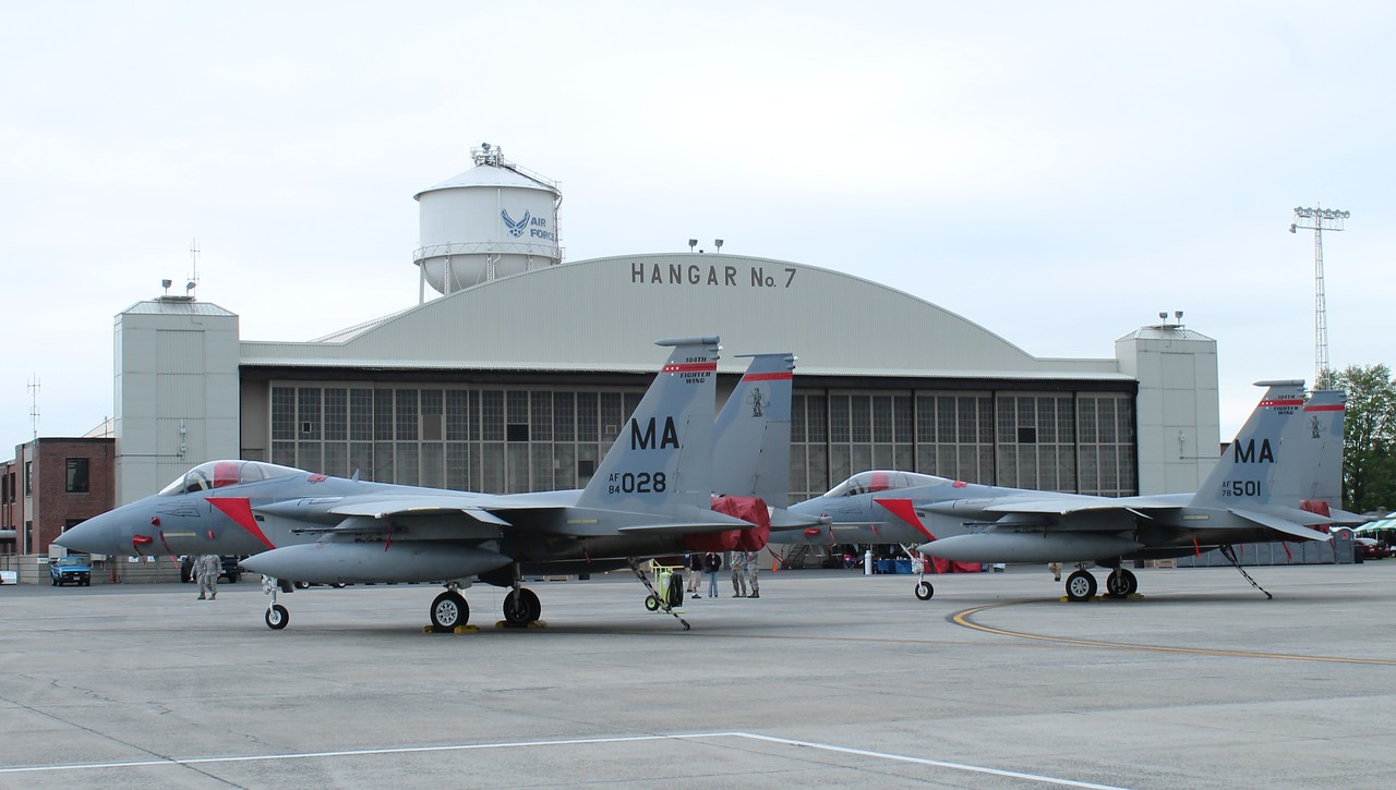 F-15Cs [84-028] & [78-501] from the 104thFW MA ANG.