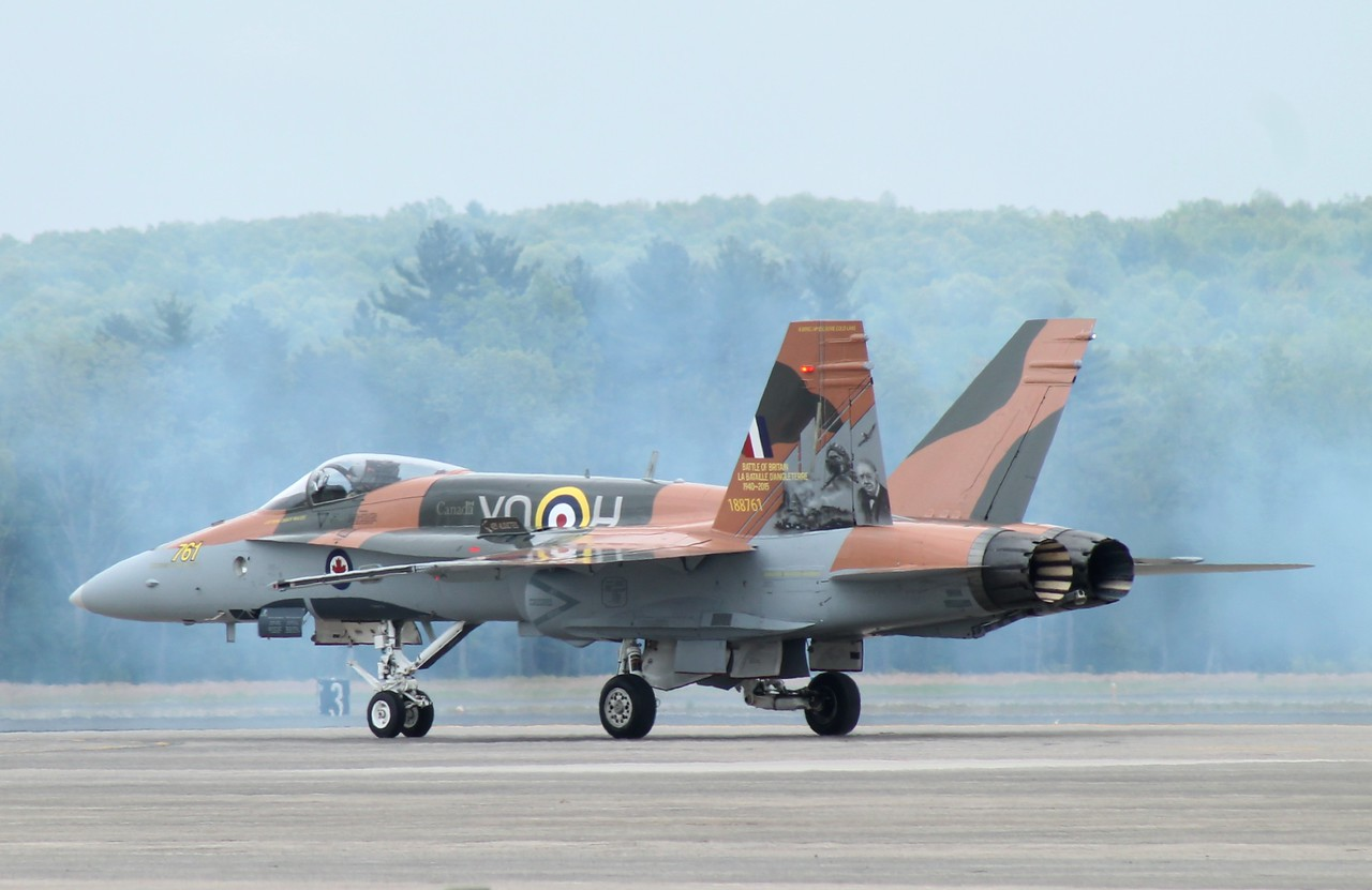 Canadian CF-18in 75th  Anniversary Battle of Britain colours