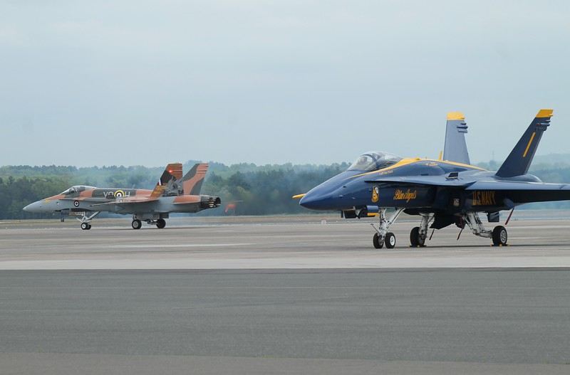 Canadian CF-18 in 75th  Anniversary Battle of Britain colours.