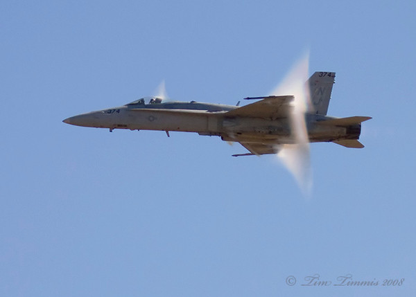 F18 almost breaking the sound barrier but needed more moisture in the air.