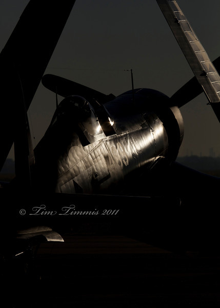 F4U Corsaire early in the morning