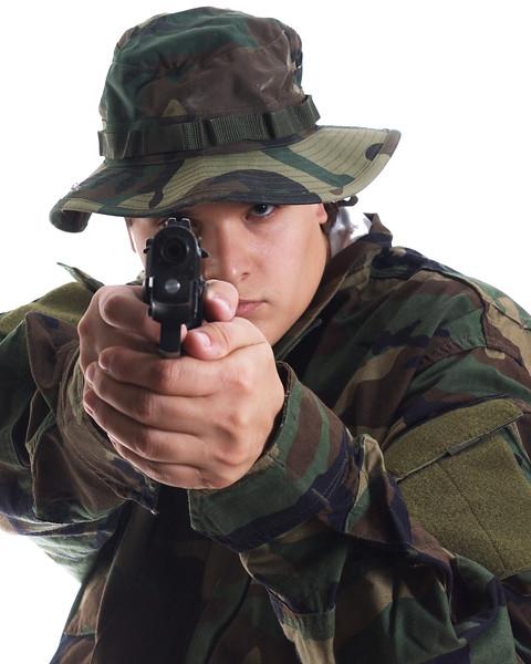 Holding my WA 8045 Cougar Airsoft Gun