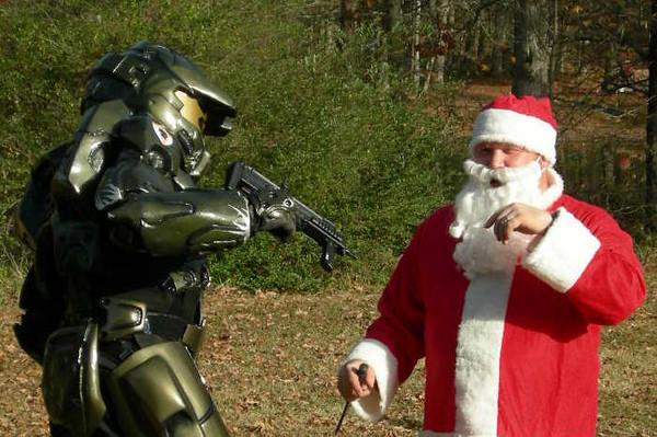 Master Chief Attacks Santa
