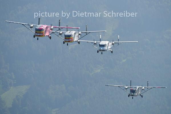 2014-08-08 OE-FDP / OE-FDI / OE-FDN / OE-FDK Shorts SC7 Skyvan Pink Aviation