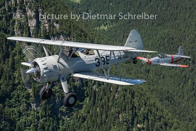 2015-06-26 HB-RBG Stearman / N848AD PIlatus P3