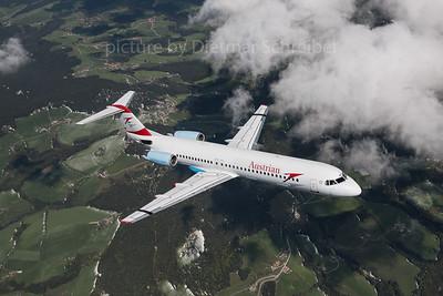 2016-04-29 OE-LVK Fokker 100 Austrian Airlines