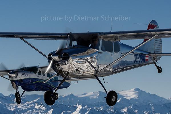 2016-12-31 OE-DBW Cessna 170 / OE-EKZ Cessna 208 Caravan Zell Air