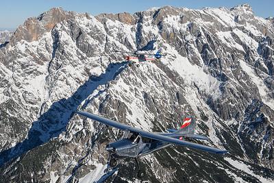 2016-12-31 OE-DBW Cessna 170 / OE-AIF Piper 18