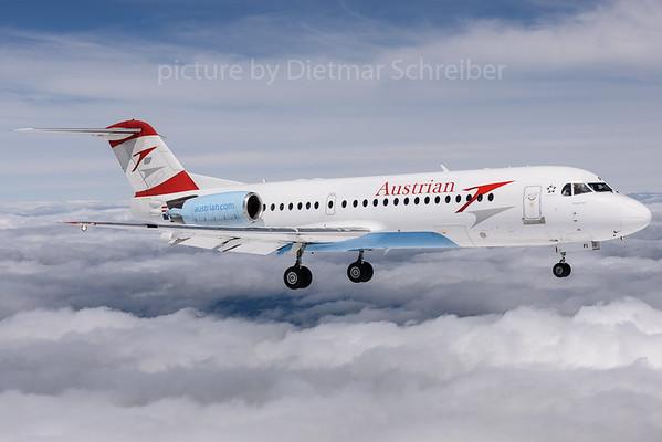2017-07-25 OE-LFI Fokker 70 Austrian Airlines