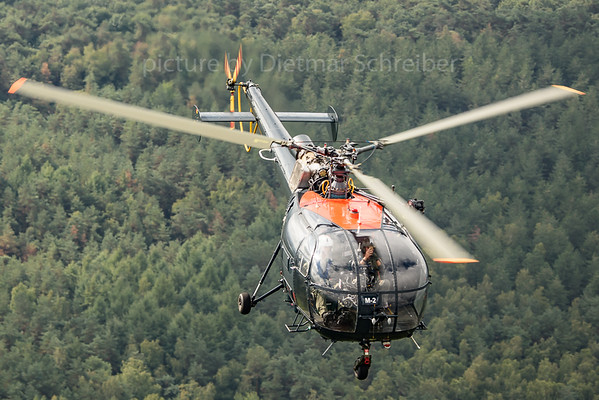 2018-09-07 M-2 SA315 Alouette Belgian Air Force
