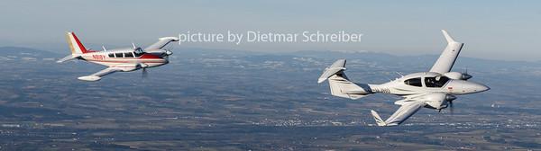 2019-02-23 D-GJHO Diamond DA42 / N818Y Piper 30