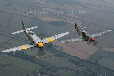 2019-07-09 G-INVN (WG655) Hawker Sea Fury / G-SHWN (KH774) P51 Mustang