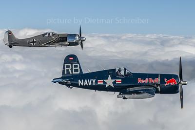 2019-09-03 OE-EAS F4 Corsair Flying Bulls / D-FWMV FW190