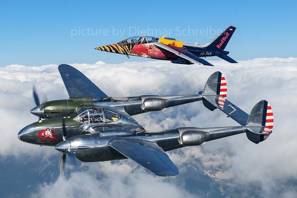 2019-09-03 N25Y P38 / OE-FAS Alphajet Flying Bulls