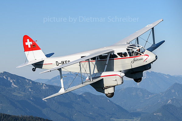 2019-09-04 D-IKFG Dragon Rapide Swissair