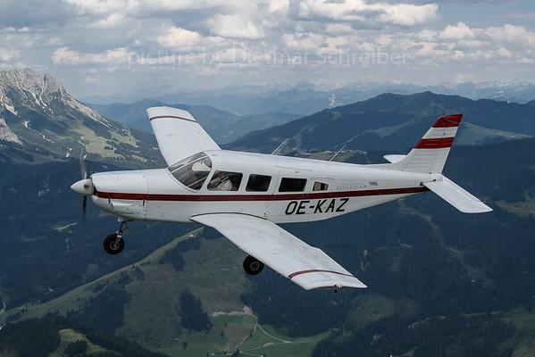 2020-07-21 OE-KAZ Piper 32 Alpenflug