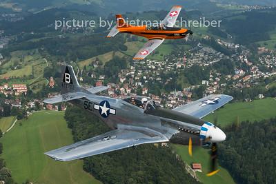 2015-08-09 D-FPSI P51 Mustang / T7-FUN Pilatus PC7