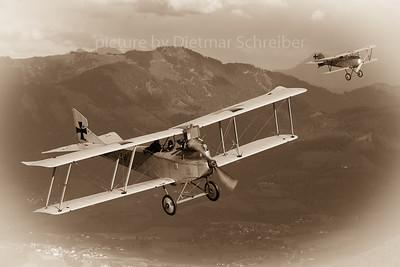 2020-10-04 OE-VCI Hansa Brandenburg C1 / D-EFBB Albatros D.III
