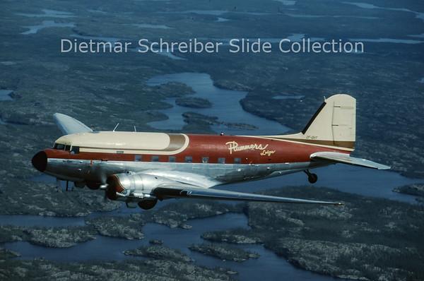 1993-08 CF-QHY Douglas DC-3C (c/n 26005/14560) Plummers Lodge
