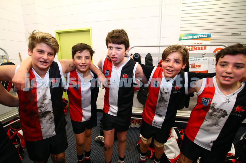 19-7-15. Ajax junior football. Under 13 Jets v Waverley Hawks. Photo: Peter Haskin