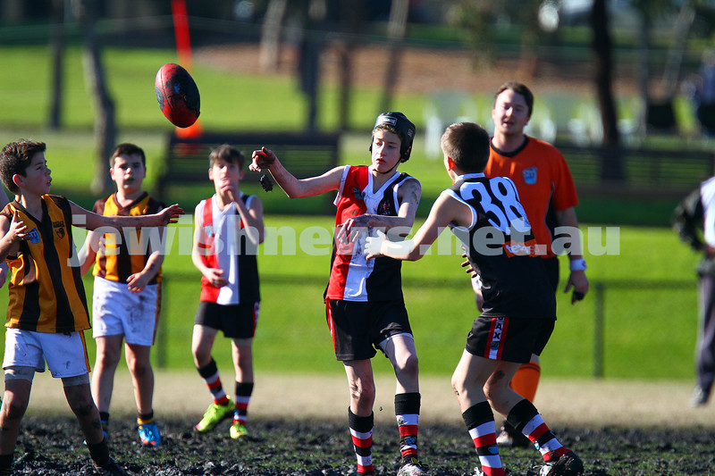 19-7-15. Ajax junior football. Under 13 Jets v Waverley Hawks. Photo: Peter Haskin