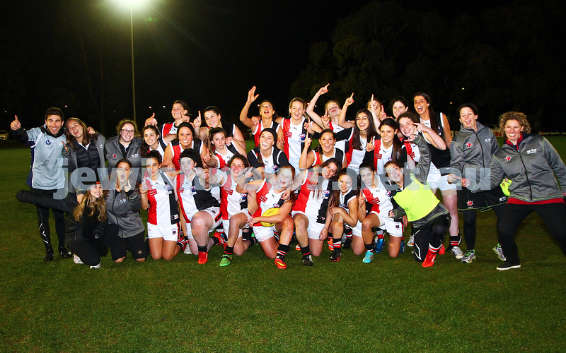 29-8-15. WVFL Eastern Divsion Grand Final. Gippsland defeated Ajax Jackettes.  Photo: Peter Haskin
