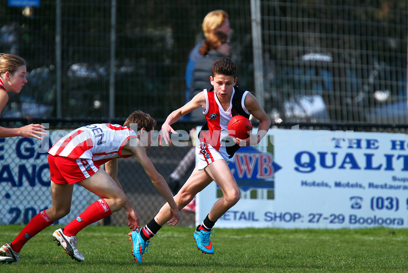 30-8-15. Ajax U 14 Comets grand final victory over Mordialloc-Braeside. Photo: Peter Haskin