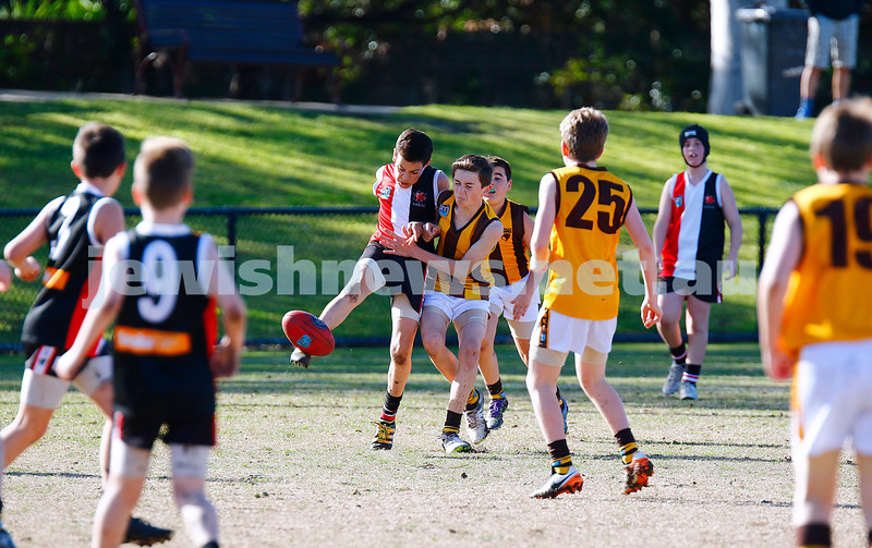 31-7-16. AJAX U14 Jets v Waverley Park Hawks at Princes Park Caulfield. Photo: Peter Haskin