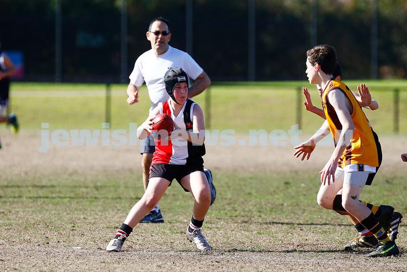31-7-16. AJAX U14 Jets v Waverley Park Hawks at Princes Park Caulfield. Photo: Peter Haskin