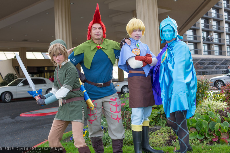 Link, Groose, Strich, and Fi