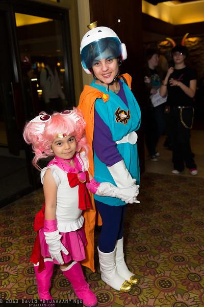 Sailor Chibi Moon and Great Saiyawoman