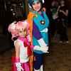 Sailor Chibi Moon and Great Saiyawoman