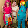 Pinkamena Diane Pie, Fluttershy, and Rainbow Dash