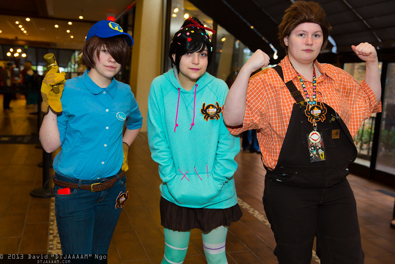 Fix-It Felix, Jr., Vanellope von Schweetz, and Wreck-It Ralph