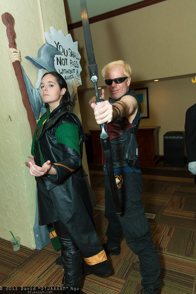 Loki and Hawkeye