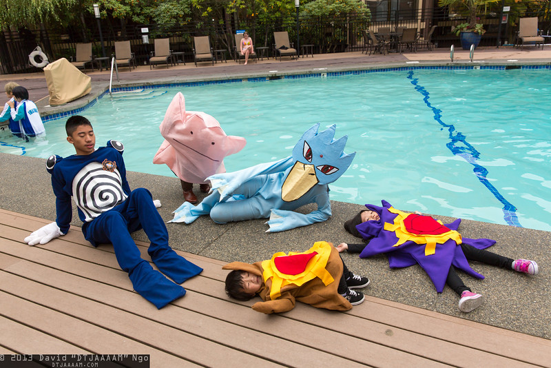 Poliwhirl, Ditto, Golduck, Staryu, and Starmie