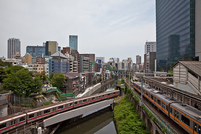 Trains at Ochanomizu Station