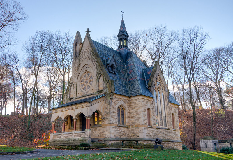 Glendale's Civil War Memorial Chapel is one of the country's most prominent Civil War memorials, and was built to honor the Akron natives who served in that war. The cemetery itself is Akron's oldest cemetery, dating back to 1839. It is entered as a historic landscape by the National Register of Historic Places.