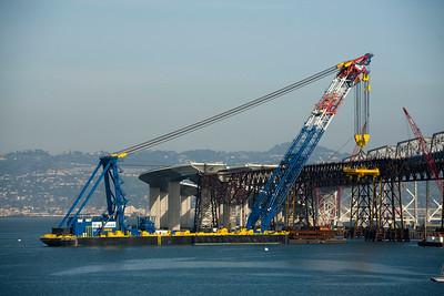 San Francisco Oakland Bay Bridge East Span Construction