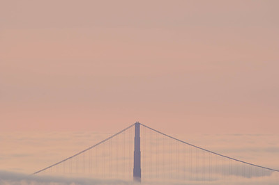 San Francisco Golden Gate Bridge as seen from Oakland