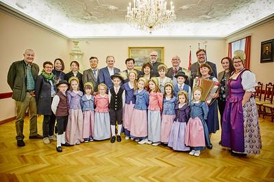 Chinesische Delegation in Melk