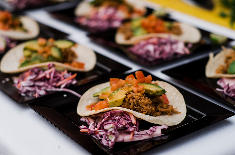 Pulled pork tacos from Dickie's Grilling during the Al Fresco Fitchburg downtown dining event held on Thursday, July 20, 2017. SENTINEL & ENTERPRISE / Ashley Green
