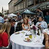 Guests enjoy meals from local restaurants during the Al Fresco Fitchburg downtown dining event held on Thursday, July 20, 2017. SENTINEL & ENTERPRISE / Ashley Green