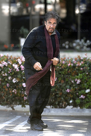 EXCLUSIVE- Santa Monica, California, March 13, 2009. Actor Al Pacino take some time in Fred Segal with his friend and look really happy.
