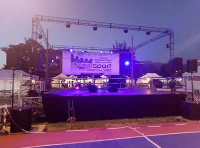 Grid 6 x 3 metri al Rieti Sport Festival comprensiva di service audio - luci